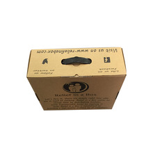 cardboard corrugate paper empty carton package boxes with black handle