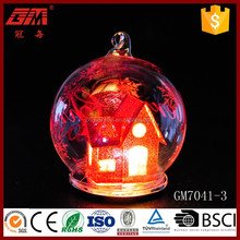 light up christmas decoration with red house inside for home decoration