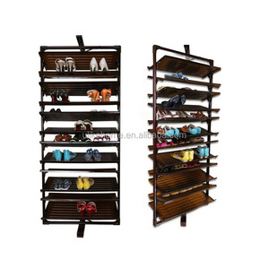 12 layers 360 degree rotating shoe rack aluminum framed shoe rack pull out shoe rack