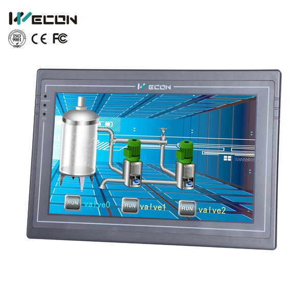 Wecon 10.2 inch hmi advanced industrial touch screen panel pc linux,WINCE System available,human machine interface