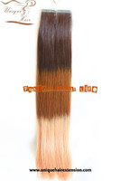 22 inches remy brazilian strong seamless stick tape weft human hair extension