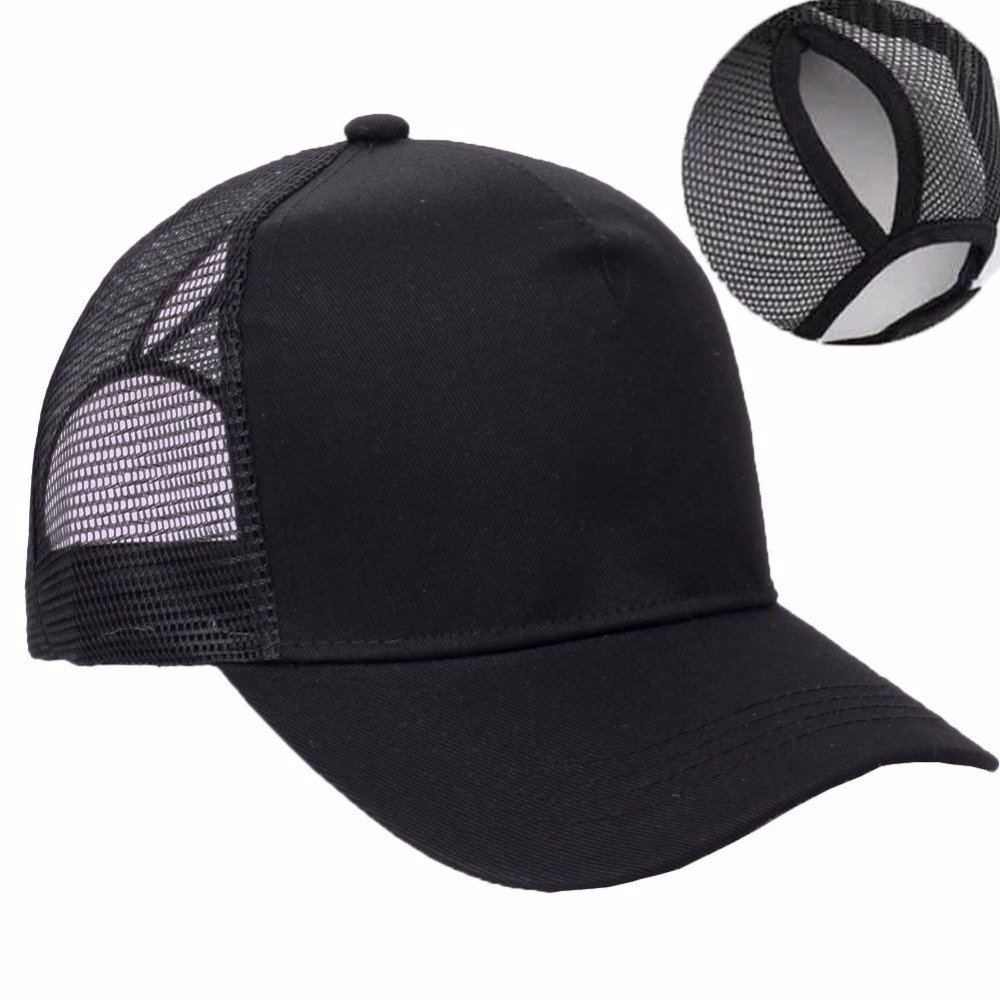 2018 Hot sales China supplies high quality custom ponytail baseball <strong>cap</strong>