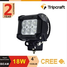 18w rally off road lights , Supper bright off road led lights 12v headlights , dual row 4x4 off road led light
