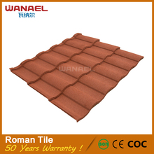 Roman stone coate corrugated roofing sheet wind resistance color steem metal roof for warehouse