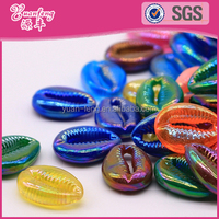 Delica Shell Shape Rainbow Color Plastic Beads For Jewelry Making