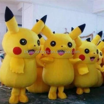 2016 hot customized pikachu mascot costume for adult