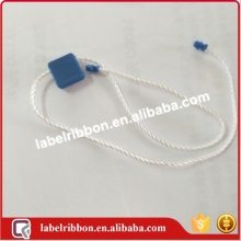 Wholesale plastic seal tag or hang tag waxed string or plastic tag fastener for clothing