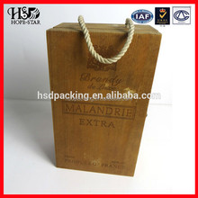 2015 Latest gift made in China single bottle wine carrier box