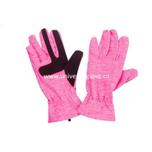 Assorted color soft fabric China Wholesale High Quality Elastic Running Glove
