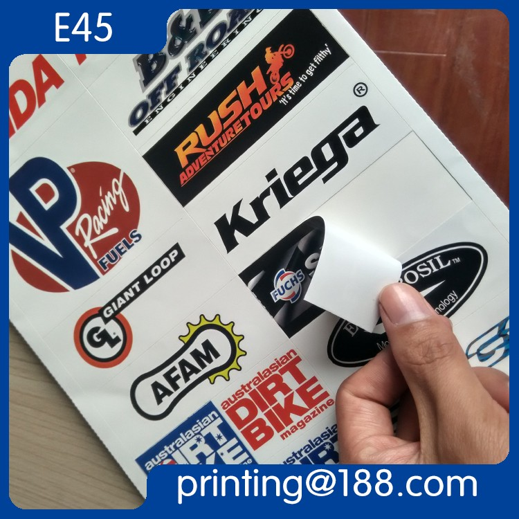 Custom Printed Self Adhesive Die-Cut PVC Logo Sticker