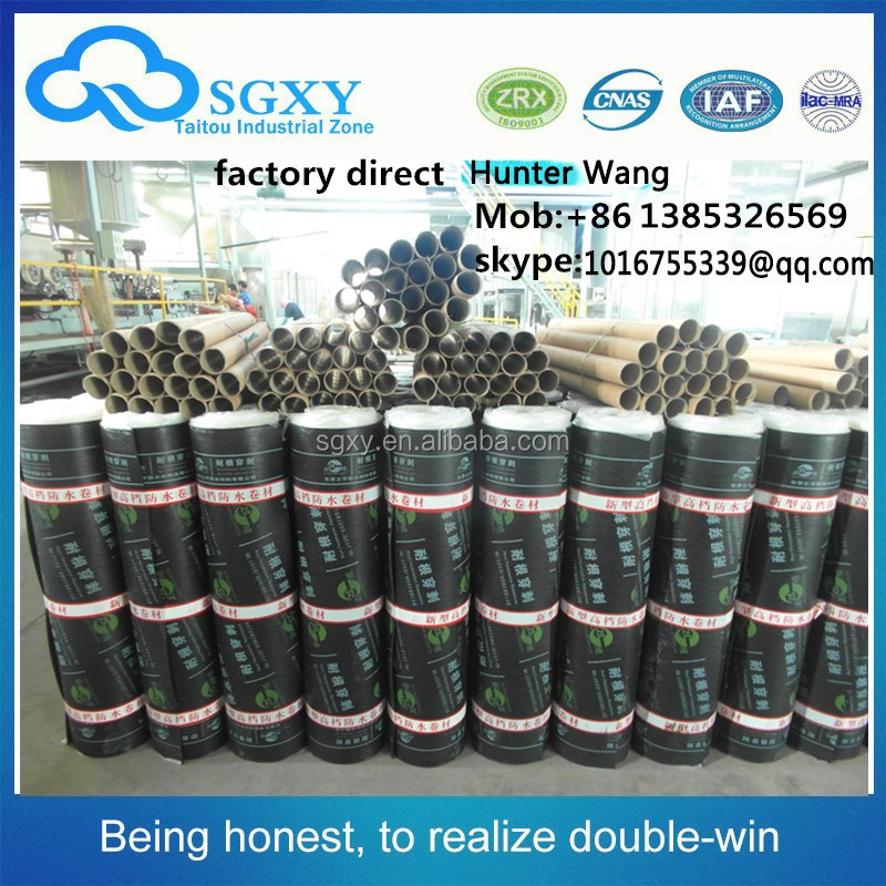 gold suppliers SBS Polymer Bituminous Elastomeric Waterproof Membrane factory direct