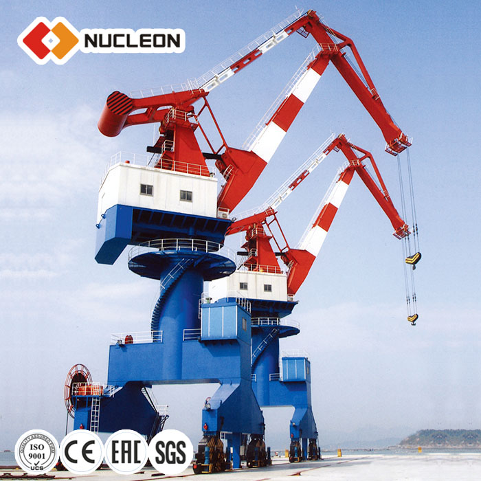 Single Jib Four Link E120t dock portal crane price For Sale