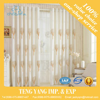Modern leaves print curtains and drapery living room curtains draps white blackout fabric curtain