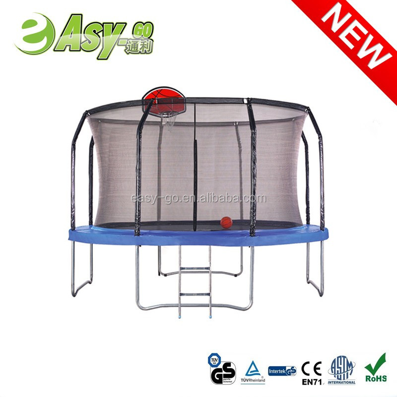 Easy-go hot second hand trampoline with Top Ring Enclosure System pass CE certificate