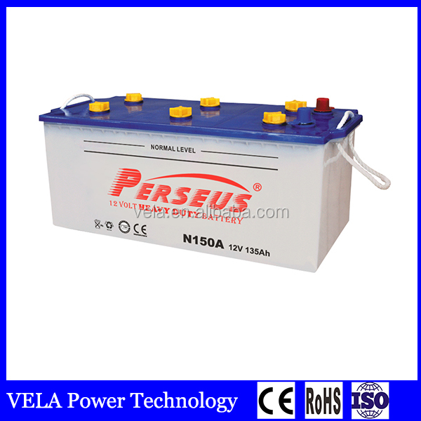 Professional dry charged truck battery to Dubai market car battery