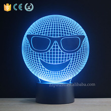 NL98 acrylic + abc 3D illusion table lamp led with 7 colors