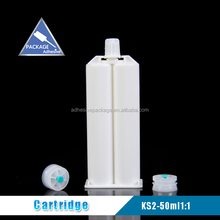50ml 1:1 Double HDPE Empty Plastic Cartridge For Silicone Sealant
