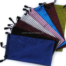 Colorful dotted Glasses Micro-fiber Sunglasses Pouch and Bag