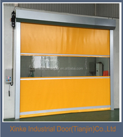 Automatic PVC high speed fast roll up door stainless steel frame HSD-001