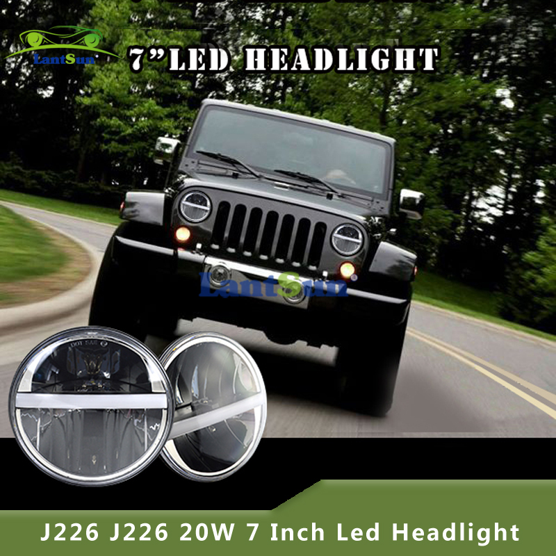 "2016 newest design 7"" 20w jeep led front headlight"
