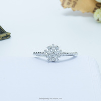 White Gold Plated Christmas Gift Snowflake