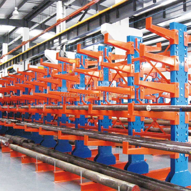 Warehouse cantilever cable reel storage rack