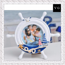 Mediterranean style blue home accessories creative photo frame European photo frame wooden helmsman picture frame