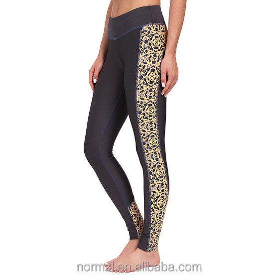 Organic yoga clothing lycra yoga pants wholesale sublimated printed yoga wear