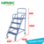 Shop rolling awesome easy movable steel picking ladder with platform