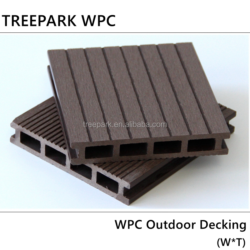 anti-slip hollow deck 140X25 wood plastic composite