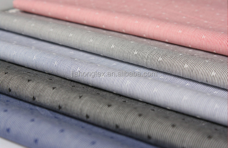 100% cotton dobby yarn dyed fabric factory