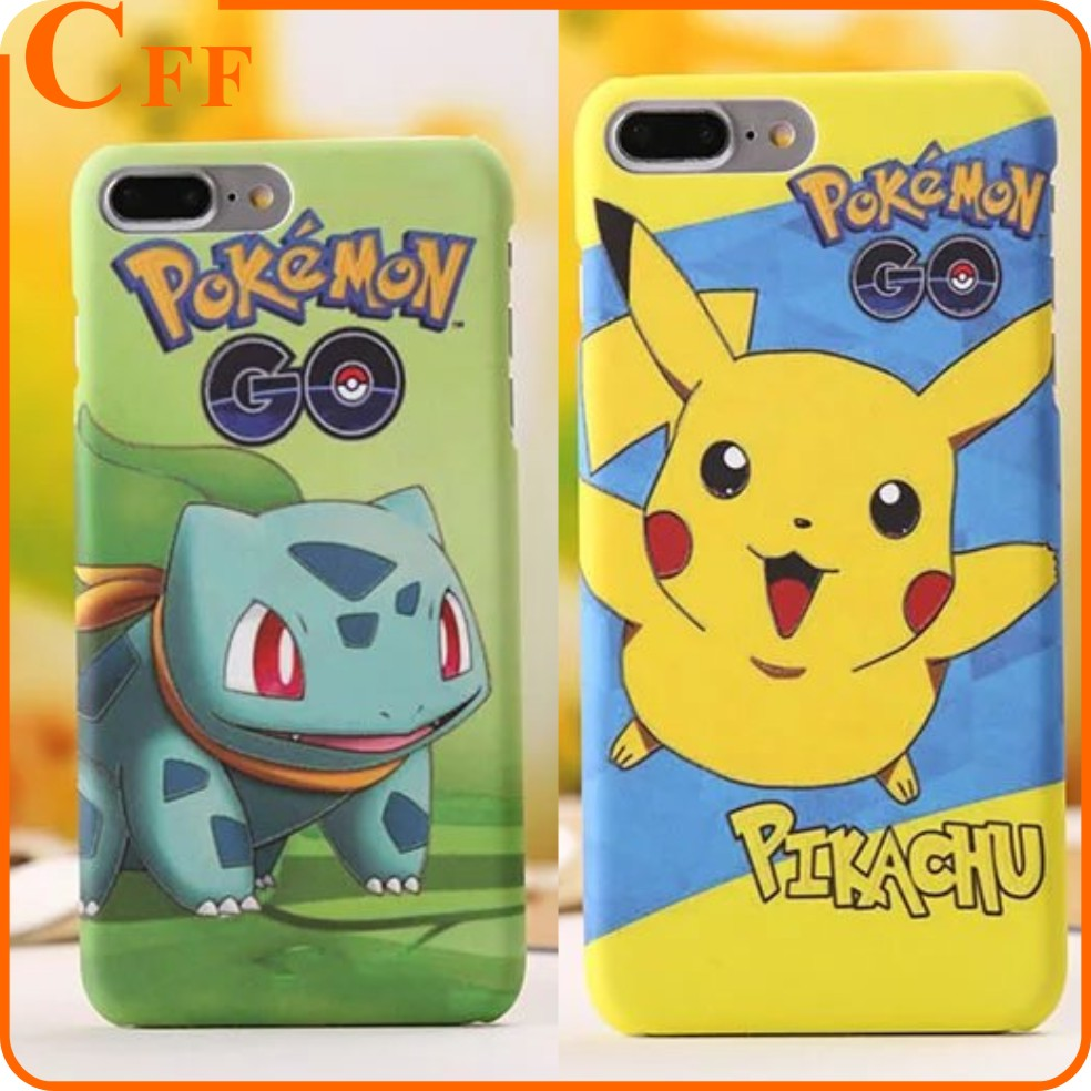 Cartoon Luminous Pokemons Pikachus Pocket Monsters Hard Case For iphone 7 Plus 6 6S Plus Glow In Dark PC Feel Back Cover