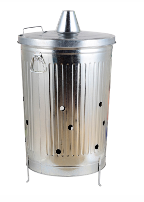100 Liter Nature Galvanized Large Incinerator