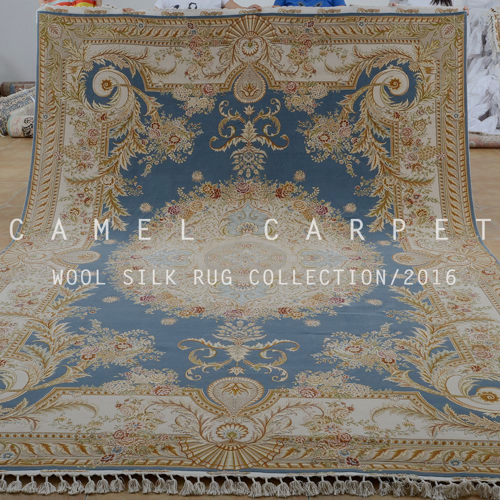wool and silk best persian rug handmade double knots french style luxury wool rug
