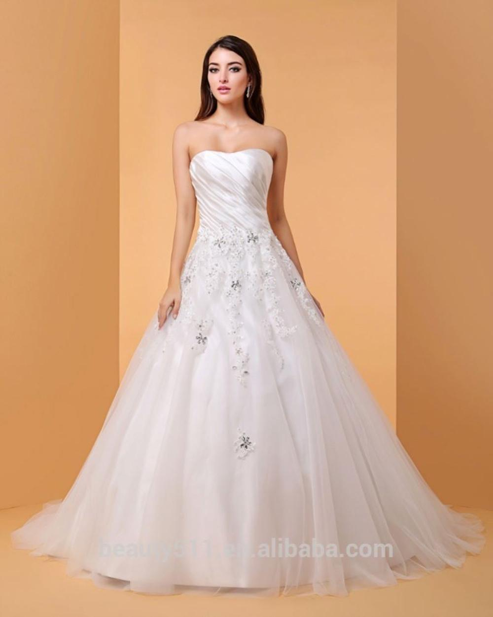 Ball Gown Wedding Dress Sparkle &amp; Shine Floor-length Sweetheart Lace bridal gown <strong>P064</strong>
