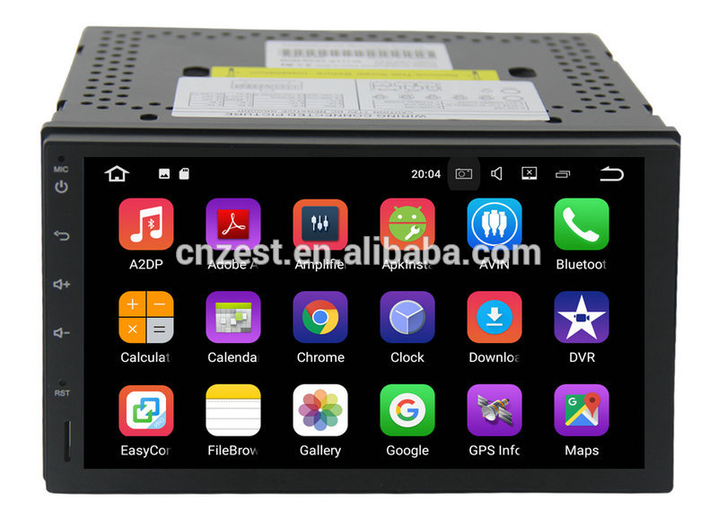 Full touch screen android car navigator multimedia system 2din universal android car dvd player