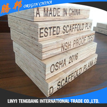 eucalyptus wood pine wood plank price osha laminated scaffold board