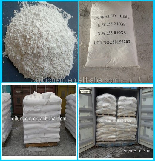 low price China manufacturer 90%-95% Calcium hydroxide/ Hydrated lime factory with ISO