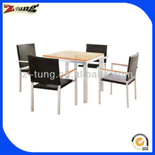ZT-1012CT good quality aluminum solid wood dining set furniture