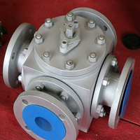 Wholesale 4-Way Ball Valve Dn25 Dn40 Cf8M 1000 Wog