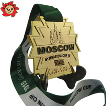 2015 Moscow Gymnasium Cup Sports Metal Medals trophies and medals china