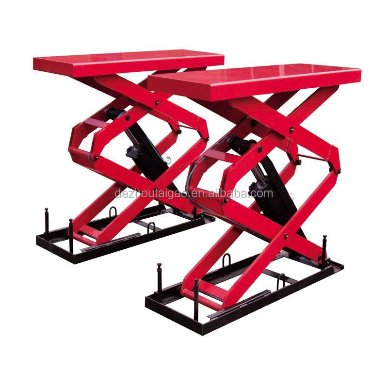 Hot selling hydraulic small platform in ground wheel alignment scissor car lift 3ton (TG-K3000)