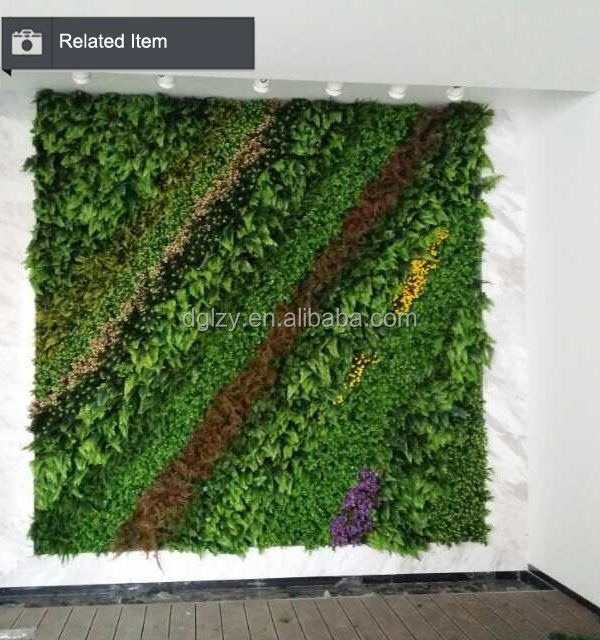 Oem artificial grass wall fake plastic green wall cheap for Cheap vertical garden