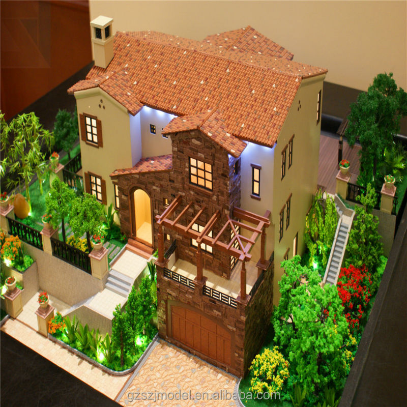 Quality assured luxury model house for sale villa design for Architecture models for sale
