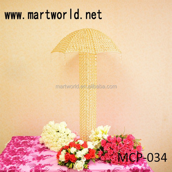 Gold umbrella crystal wedding centerpieces decorative wedding gold umbrella crystal wedding centerpieces decorative wedding table centerpieces for wedding decorationmcp junglespirit