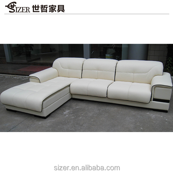hot-selling high quality low price white genuine leather sofa set