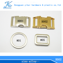 Alibaba gold supplier zinc alloy curved metal buckle,safety metal buckle for dogs