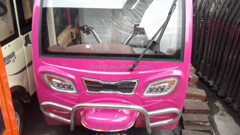 1500W Pink Electric Passenger Bajaj On Sale