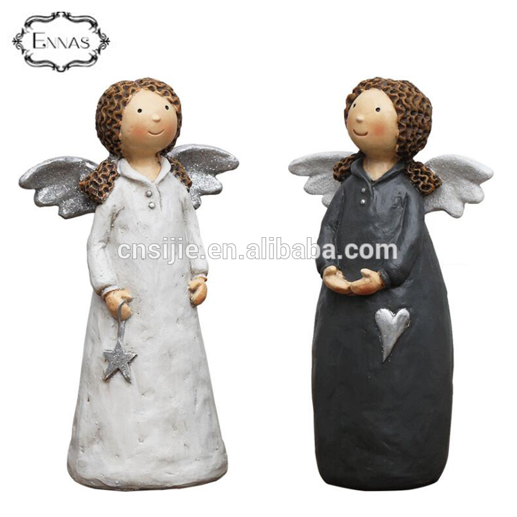 High quality long duration time ennas brand resin angel figurine