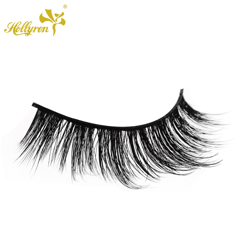 Hollyren Clear Band Fake Siberian Faux Mink Eyelashes Wholesale